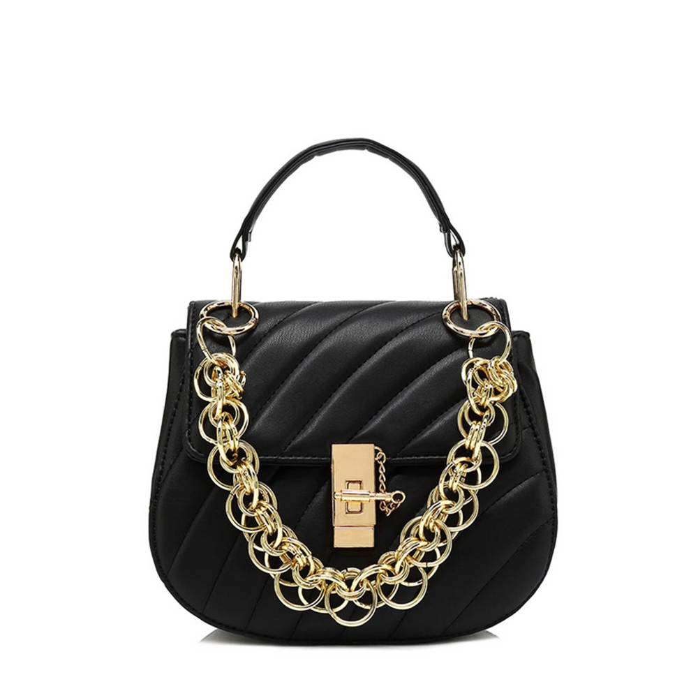 298d75edd35 Black Quilted Special Chain Mini Bag