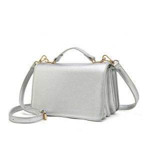 Silver Mini Shoulder Bag