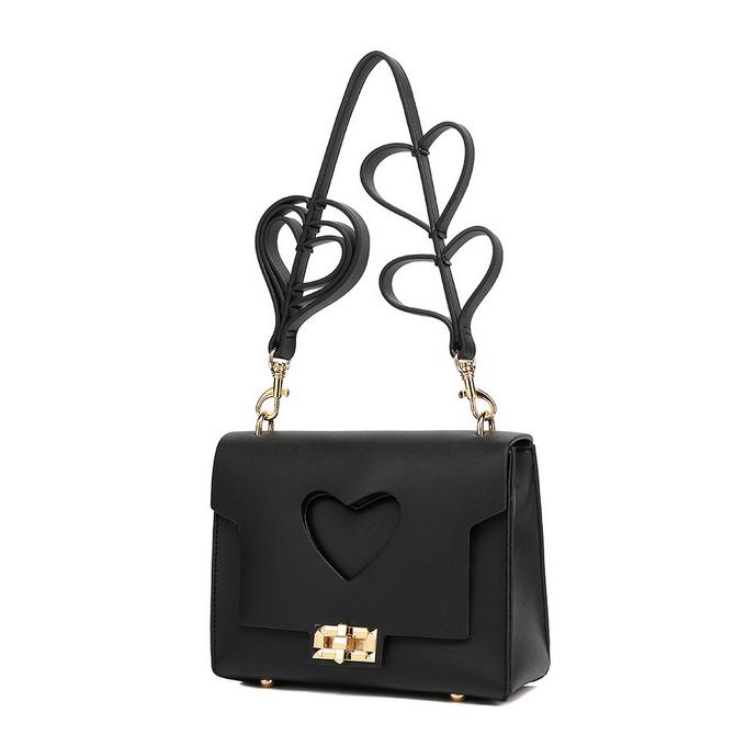 c9dda187d79c Black Hearts Strap Mini Bag - Handbags