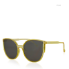 Yellow Translucent Frame Cat Eye Sunglasses