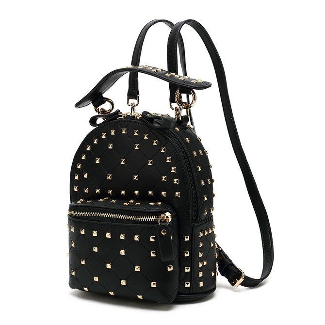 fa7cfcf156c Black Studded Mini Backpack