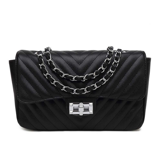 eab224b66d2a Black Quilted Mini Shoulder Bag - Handbags | Get the latest trending ...