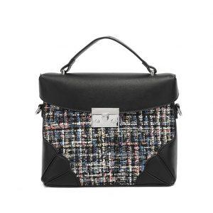 Mulitcolour Tweed Midi Handbag