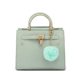 Light Green Padlock Front Mini Shoulder Bag