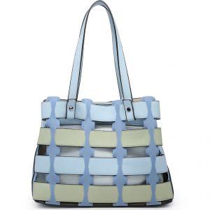 Blue Horizontal Slats Tote Bag