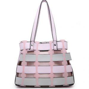Pink Horizontal Slats Tote Bag