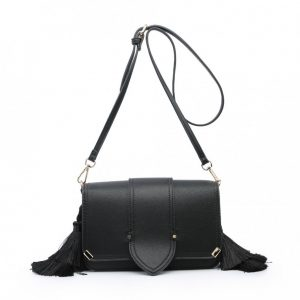 Black Side Tassel Mini Shoulder Bag