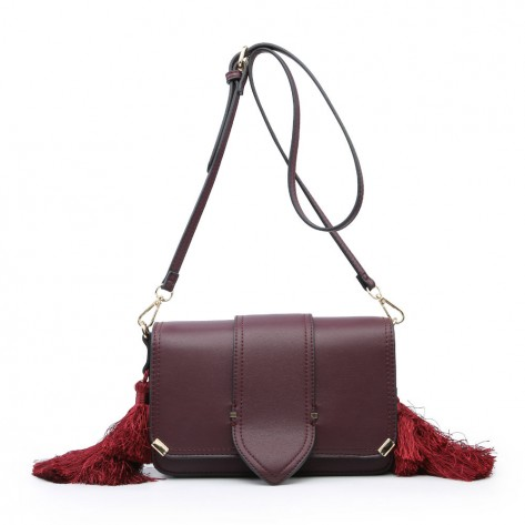 Wine Red Mini Shoulder Bag