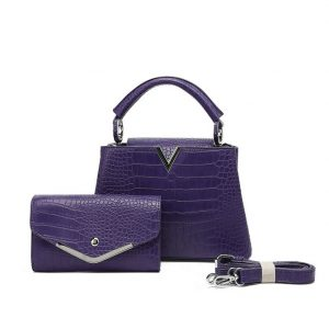 Purple Handbag with Matching Purse
