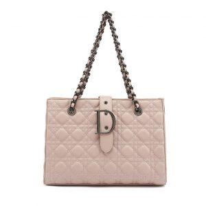 Pink Quilted Shoulder Bag