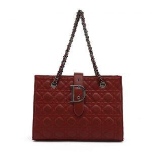 Red Quilted Shoulder Bag