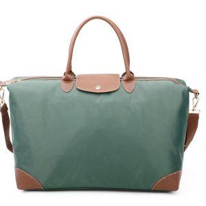 Green tote shopper bag