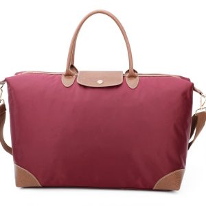 Red tote shopper bag