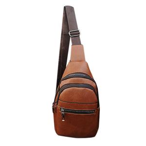 Men Brown Crossbody Sling Bag